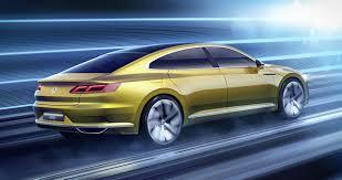 gold color cars image volkswagen 2015 sport coupe concept gte gold color motion auto