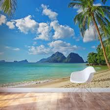 tropical paradise wall mural