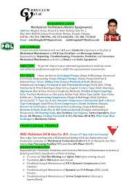 Sample Resume For Oil And Gas Industry by Muhammad Zahid Cv Mechanical Technician