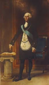 george washington shown in the picture on the left in his masonic a was