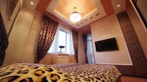 Bedroom With Tv Bedroom With Binoculars On The Window Sill Leopard Print On Walls