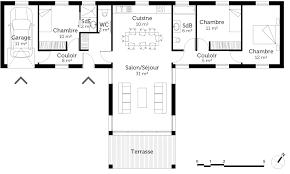 plan maison contemporaine plain pied 3 chambres plan maison plain pied 3 chambres avec garage 14 plan maison