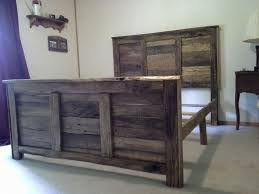 Bed Headboards And Footboards Queen Size Pallet Headboard And Footboard With Frame Diy Project