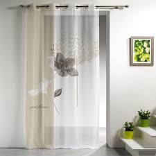 voilage chambre adulte voilage 140x240cm just flowers