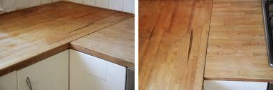 plan de travail bois cuisine rénover un plan de travail de cuisine en bois merci pour le