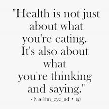 health is not just about what you re it s also about what