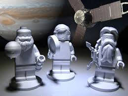 lego figures flying on nasa jupiter probe