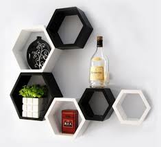 decoration handsome black finished triangle wall shelf cute toys
