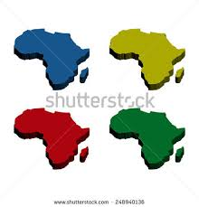 3d africa map vector colorful 3d africa maps stock vector 248940136