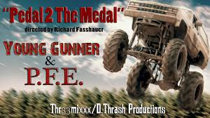 monster truck music video young gunner u0026 p f e pedal 2 the metal official music video