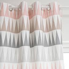 tenture chambre bébé rideau à œillets en coton 110 x 250 cm trendy maisons du