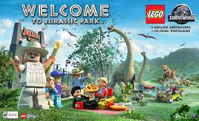 lego jurassic park jeep another most entertaining poster for lego jurassic world amanda