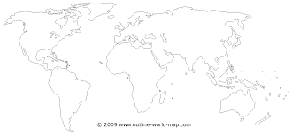 World Continents And Oceans Map by Transparent Blank Thin World Map B1a Outline World Map Images