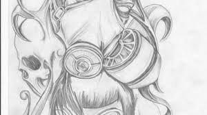 skull with gas mask drawing skull line drawing octopus squid