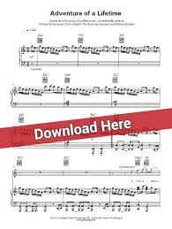 download mp3 coldplay adventure of a lifetime coldplay adventure of a lifetime sheet music piano notes chords