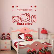 Hello Kitty Wall Mirror Buy Home Decorations High Quality Acrylic 3d Wall Stickers Cartoon