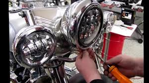 how to install cyron abig7 series led headlight on a harley fatboy