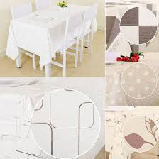 wipe clean pvc vinyl heavy duty tablecloth dining kitchen table