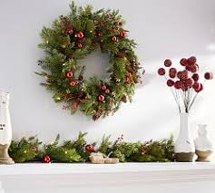 wreathes outdoor plants pottery barn