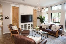 hgtv fixer upper reno from 80s to elegant hgtv s decorating contemporary neutral living room with custom built in