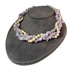 glass pearl necklace images Genuine amethyst glass pearl necklace jpg
