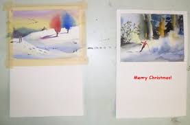 carol jessen u0027s watercolor world hand painted christmas cards