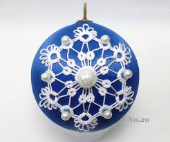 image result for tatted christmas ball crafts pinterest