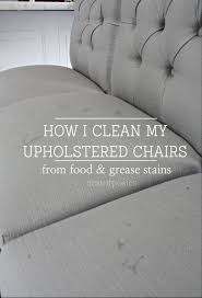 how to clean upholstered chairs