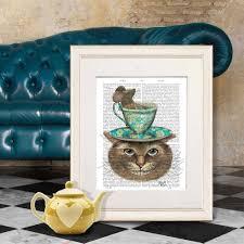 alice in wonderland home decor cheshire cat alice in wonderland print