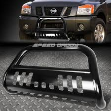 nissan armada light bar matte black bull bar grille guard yellow fog light for 04 15