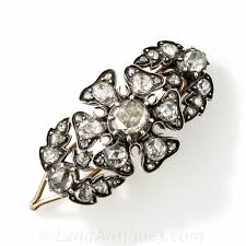 hair barrette antique diamond hair barrette