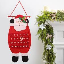 advent calendar craft santa claus snowman hanging decor