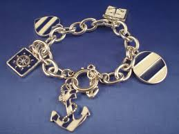 anchor jewelry bracelet images Silver blue tone naval sailing chain bracelet anchor wheel jpg