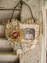 Shabby Chic Decorating Ideas Cheap by Vintage Heart Art Holy Cow Cute And Cheap To Make Altered