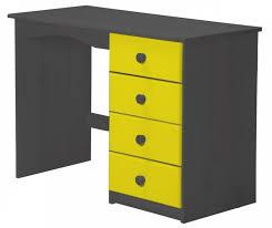 le de bureau jaune bureau pin massif gris et jaune aladin lestendances fr