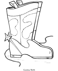 easy shapes coloring pages free printable cowboy boots easy 6708