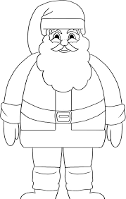 stand santa coloring pages for kids printable christmas coloring