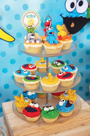 baby u0027s one month sesame street party dessert table hostess with