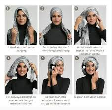 Tutorial Turban Sederhana   foto tutorial hijab modern sederhana terbaru 2015 new tutorial