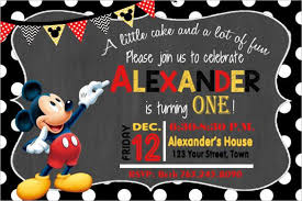 mickey mouse birthday invitations 31 mickey mouse invitation templates free sle exle format