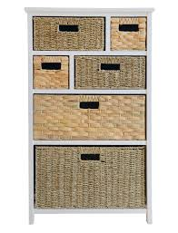 storage unit with wicker baskets tetbury storage unit large chest of drawers storage baskets