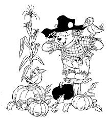 winnie pooh scarecrow coloring sheet disney crafts
