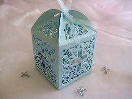 baptism party favors 60 pieces holy cross blue favor boxes for christening favors