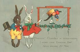 easter bonnet easter bunnies admire easter bonnet vintage postcard a canadian