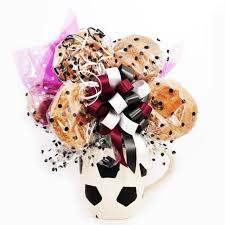 cookie bouquet soccer mug cookie bouquet 6 cookies park edge sweet shoppe