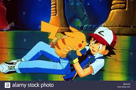 pikachu u0026 ash pokemon the first movie 1999 stock photo royalty