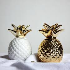 12x9x9 golden white pineapple ceramic ornaments pineapple save