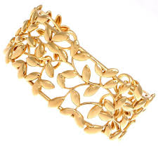 gold leaf bracelet images Tiffany and co paloma picasso olive leaf gold cuff at 1stdibs jpg