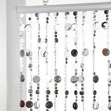 rideau de rideau de porte perles plates argent rideau de porte eminza