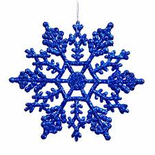 club pack of 24 lavish blue glitter snowflake
